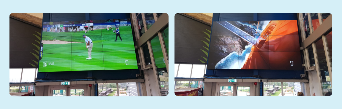 Video Wall Installation at TopGolf Watford